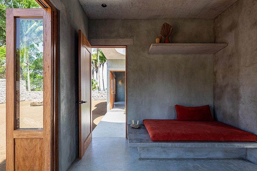 Le bungalow `` litibú '' de PALMA sur la côte pacifique du Mexique ne mesure que 50 mètres carrés