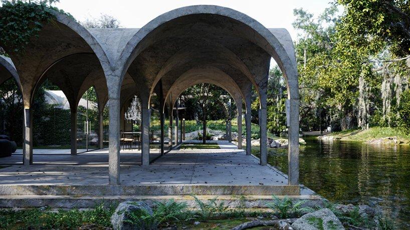 marc thorpe organise un paysage de rêve pittoresque avec sa maison aux quatre jardins